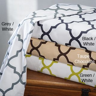 Charleston 100 percent Cotton Print Sheet Set