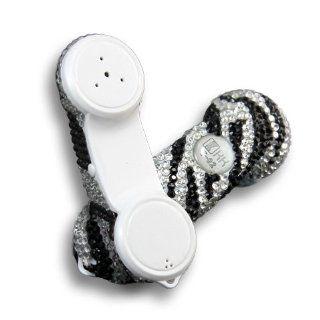 [Aftermarket Product] White+Black Bling Retro Phone Zebra