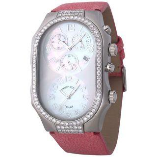 Philip Stein Womens Teslar Dual Time Diamond Watch