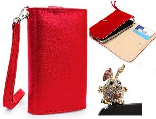 Nokia Lumia 810 4G Mobile Phone Wallet Red Clutch Carrying