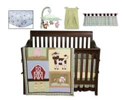 Trend Lab Baby Barnyard 8 piece Crib Bedding Set