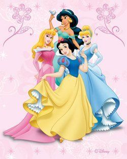 Disney Four Princess Kids Area Rug 4.4X6 (133x204 CMS