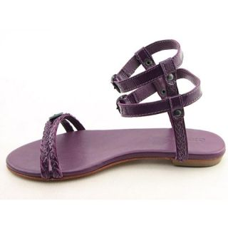 Diesel Womens Sand Purple Sandals & Flip Flops (Size 7)
