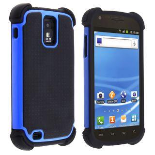 Black/ Blue Hybrid Armor Case for Samsung Galaxy S II T Mobile T989