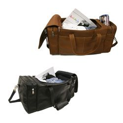 Piel Leather 19 Inch Carry On Weekend Spacious Duffel Bag with Strap