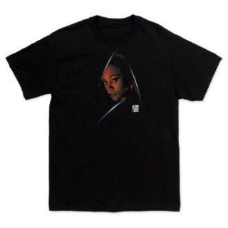 Star Trek Uhura Delta Shield T shirt, Black M Clothing