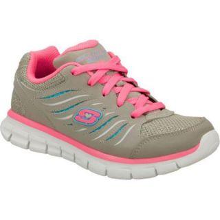 Girls Skechers Synergy Gray/Neon Pink