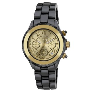 Akribos XXIV Mens Ceramic Gold tone Chronograph Watch