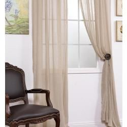 Faux Linen Tumbleweed 84 inch Sheer Curtain Panel