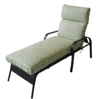 Orda Outdoor Blue/ Green Chaise Lounge Chair Cushion