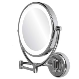Ovente 1x/10x Dimmable Lighted Round Wall Mirror Today $86.99 4.8 (8