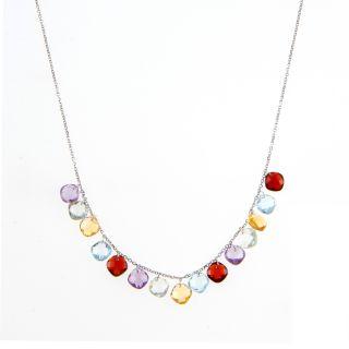 Glitzy Rocks Sterling Silver 3/4ct TGW Amethyst Journey Necklace