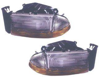1998 2003 Dodge Dakota Headlights (Chrome)    Automotive