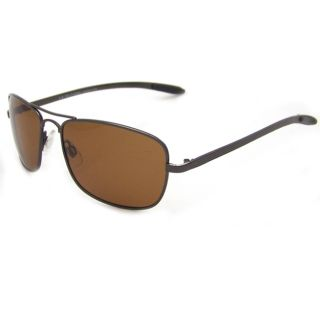 US Polo Association Mens Accomplice Brown Metal Polarized Square