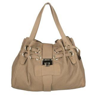 Jimmy Choo Ramona Large Beige Leather Shopper Bag