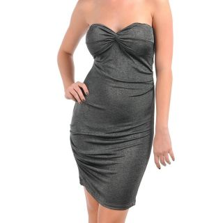 Stanzino Womens Grey Formal Tube Dress