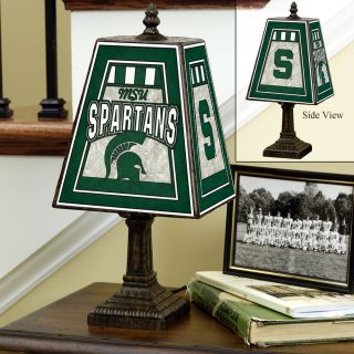 Michigan State Spartans 14 inch Art Glass Lamp