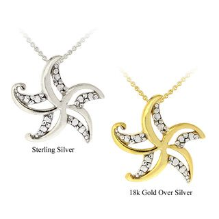 DB Designs Sterling Silver Diamond Accent Starfish Necklace