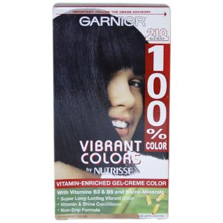 Garnier Nutrisse 100% Color #210 Blue Black Permanent Hair Color