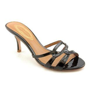Tahari Blake Open Toe Slides Sandals Shoes Black Womens New/Display