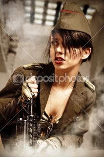 Attractive and sexy army girl  Stock Photo © Tomasz Tulik #9139849