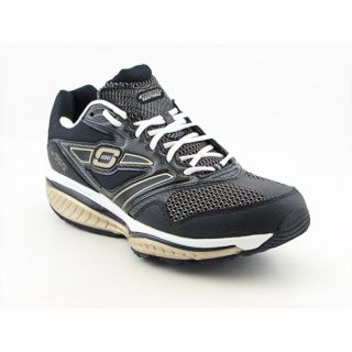 Skechers Shape Ups Mens Defiance Dare Black/Gold Running Shoes