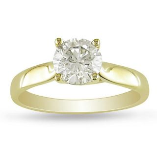 18k Yellow Gold 1ct TDW Diamond Solitaire Engagement Ring (L M, I1 I2