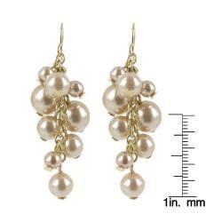 Roman   Aretes colgantes con diseño de racimo de perlas de imitación