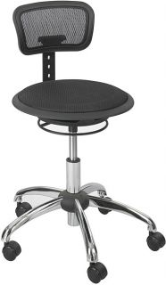 Safco Adjustable Height Mesh Stool with Backrest