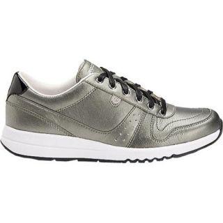 Womens Rockport Zana Walking Sneaker Coal Full Grain Leather