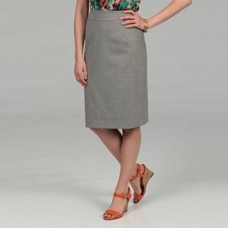 Calvin Klein Womens Grey Melange Pencil Skirt