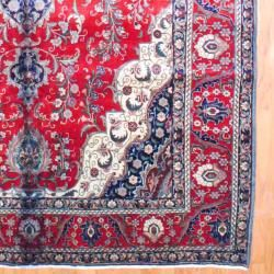 Persian Hand knotted Tabriz Red/ Navy Wool Rug (10 x 165