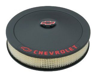 Proform 141 752 Black Crinkle 14 Diameter Air Cleaner Kit with Red