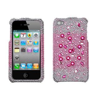 Premium Apple iPhone 4/4S Pink Rhinestone Case
