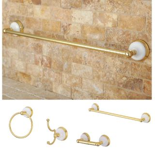 Polished Brass 4 piece Bathroom Accessory Set Today $114.99
