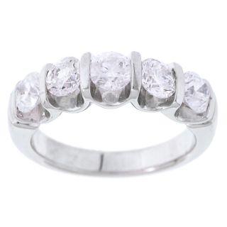 14k White Gold 2ct TDW Diamond 5 stone Ring (G, I1)