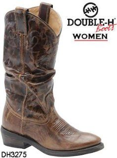 Double H Boots Western Vintage Slouch DH3275 Womens Vintage Tan Shoes