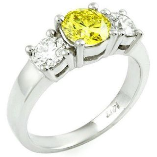 14k Gold 1 3/4ct TDW Yellow/ White Diamond Ring (G H, SI) (Size 6.5