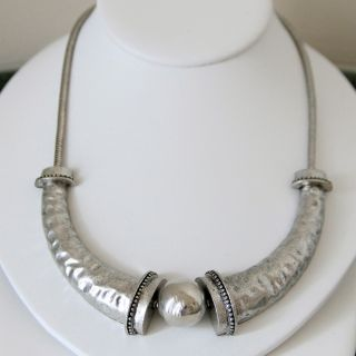 Tibetan Silver Hammered Fashion Necklace