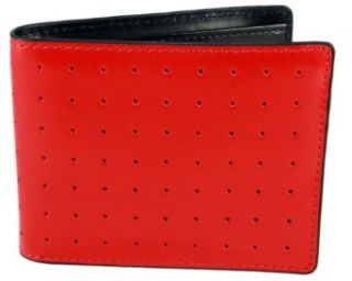 J.Fold Wallet Lounge Master Red Black Mens Leather