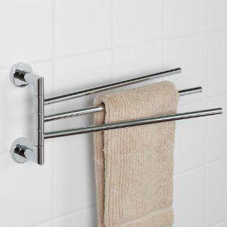 Bristow Collection Triple Swing Arm Towel Bar   Chrome