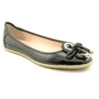Elie Tahari Jacey Ballet Flats Shoes Black Womens