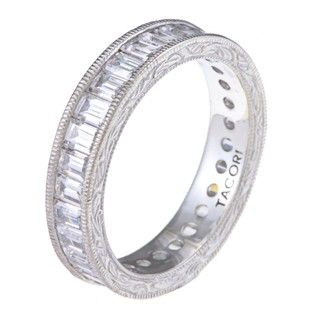 Tacori IV Sterling Silver Clear Cubic Zirconia Epiphany Eternity Ring