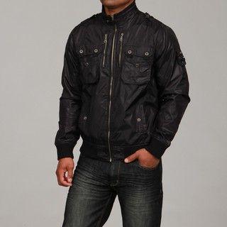 WT02 Mens Black Zipper Detail Jacket