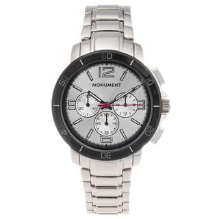 Monument Mens Stainless Steel Casual Sport Watch