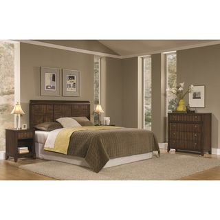 Home Styles Paris Mahogany Queen/Full Headboard Night Stand and Chest