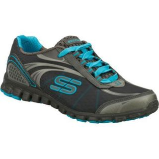 Womens Skechers EZ Flex Barbed Wire Gray/Blue