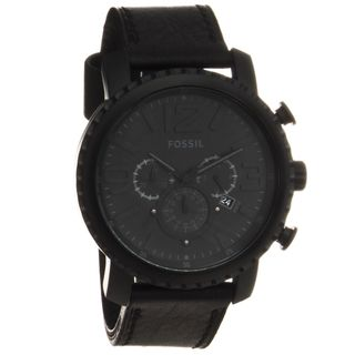 Fossil Mens Black Stainless Steel Gage Chronograph Watch
