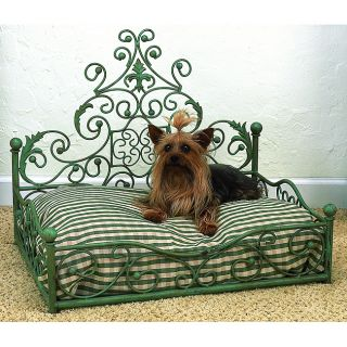 Distressed Blue Antique Scroll Iron Pet Bed Today $189.99