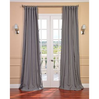 Weathered Grey Linen Blend Curtain Panel